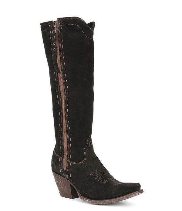 アリアト レディース ブーツ・レインブーツ シューズ Giselle Suede Tall Block Heel Boots Black