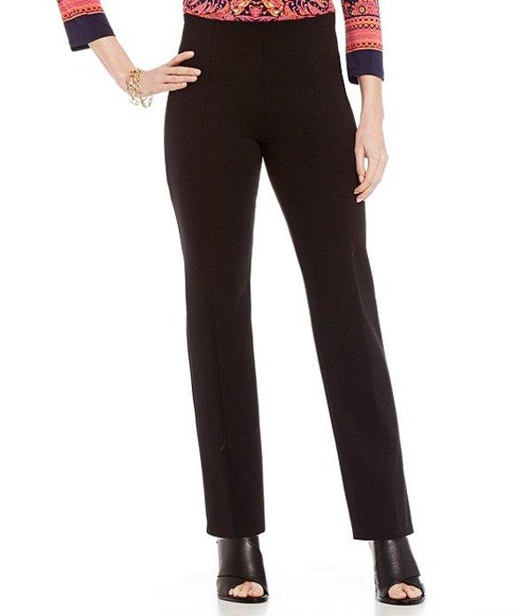 ピーター ナイガード レディース デニムパンツ ボトムス Nygard SLIMS Petite Luxe High Waist Straight Leg Pants Black