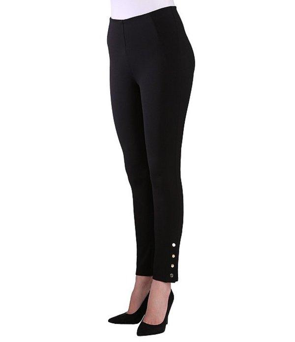 ピーター ナイガード レディース カジュアルパンツ ボトムス Nygard SLIMS Luxe Ponte Ankle Pants with Snaps Black