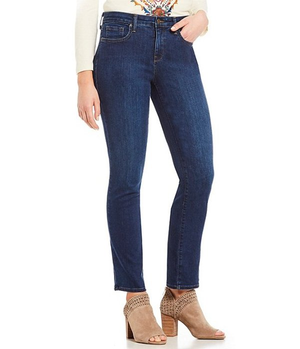 エヌワイディージェイ レディース デニムパンツ ボトムス Sheri Slim Tonal Stitch Jeans Med Cooper