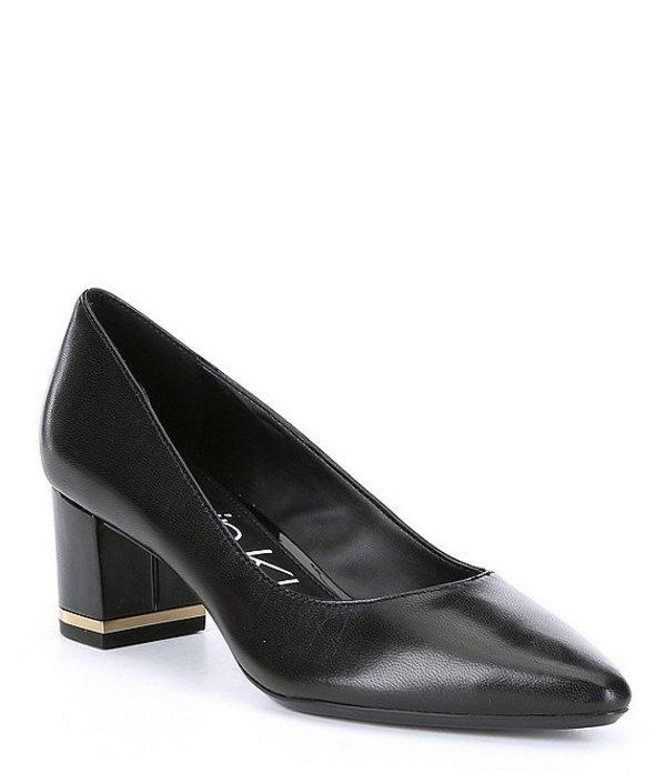 カルバンクライン レディース ヒール シューズ Nita Leather Dress Pumps Black