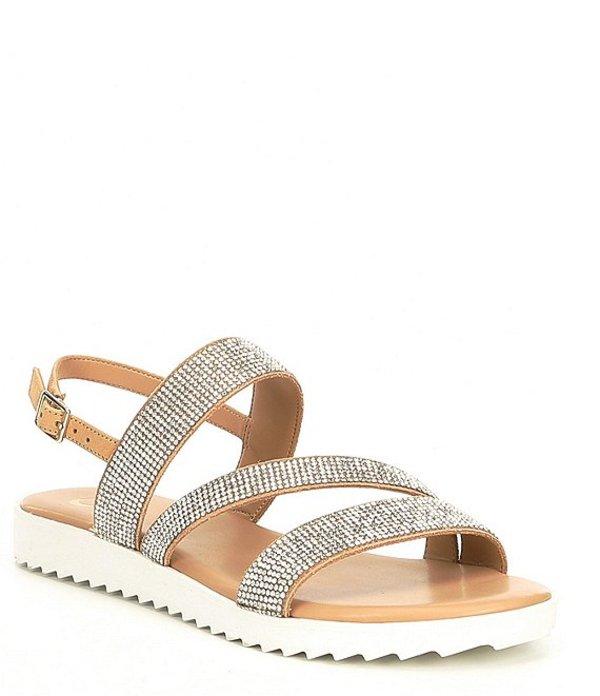 ジービー レディース サンダル シューズ Lumi-Nous Rhinestone Embellished Flatform Sandals Spanish Sand