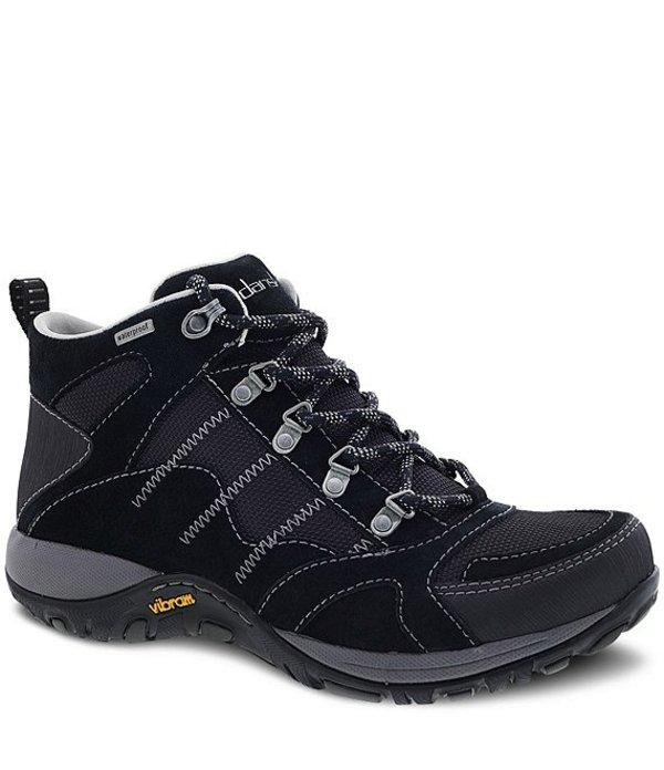ダンスコ レディース ブーツ・レインブーツ シューズ Paxton Waterproof Suede Hiker Sneaker Booties Black Suede