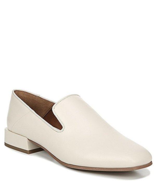 フランコサルト レディース スリッポン・ローファー シューズ Mercy Leather Block Heel Loafers Ivory