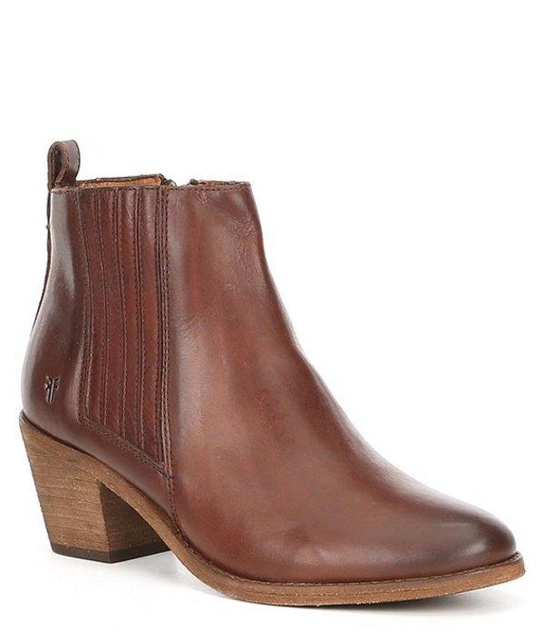 フライ レディース ブーツ・レインブーツ シューズ Alton Chelsea Leather Block Heel Boots Cognac