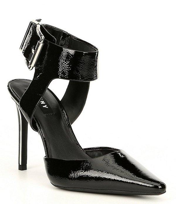 ダナ キャラン ニューヨーク レディース ヒール シューズ Belka Crinkle Patent Leather Pumps Black