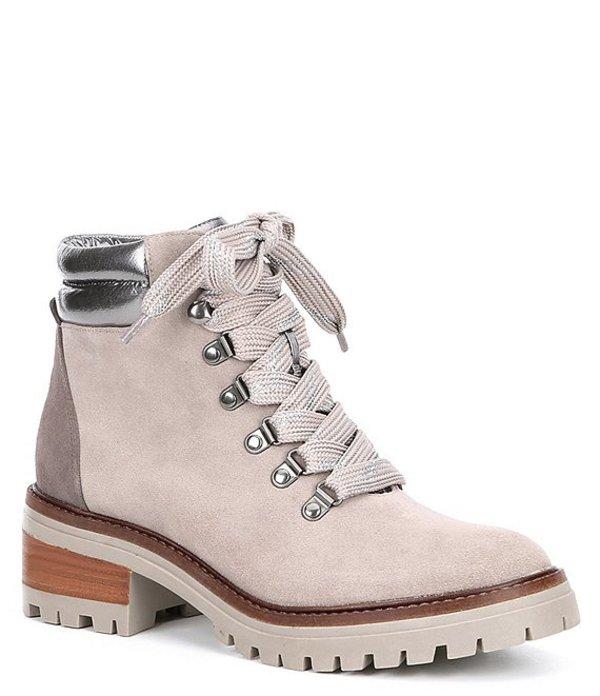 ジェントルソウルズ レディース ブーツ・レインブーツ シューズ Brooklyn 2.0 Suede Hiker Boots Grey Combo