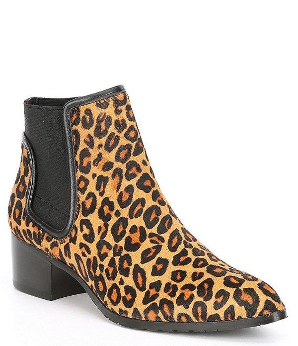大特価放出! ドナルドプリネール レディース ブーツ・レインブーツ シューズ Dyla Leopard Print Calf Hair Block Heel Booties Black/Natural, TPOS 3d810751
