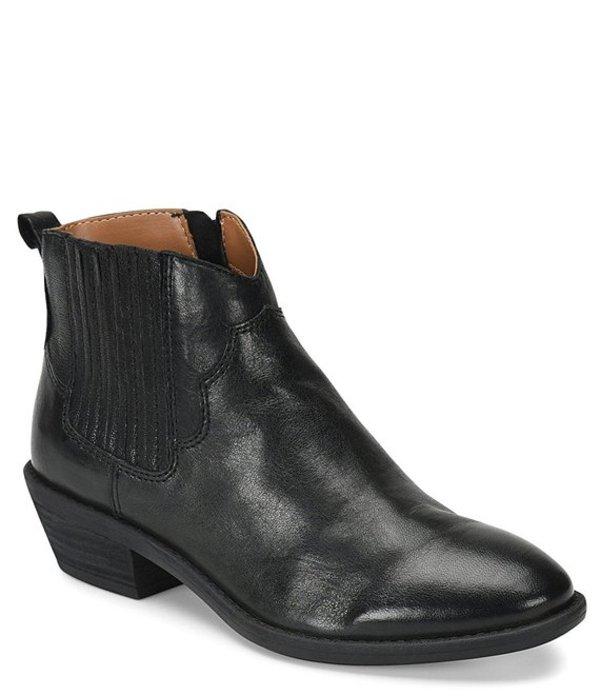 コンフォーティバ レディース ブーツ・レインブーツ シューズ Virden Leather Block Heel Bootie Black