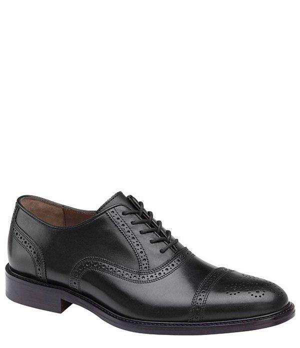ジョンストンアンドマーフィー メンズ ドレスシューズ シューズ Men's Daley Leather Cap Oxford Black