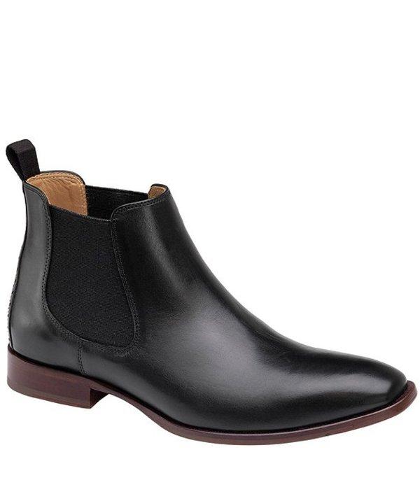 ジョンストンアンドマーフィー メンズ ブーツ・レインブーツ シューズ Mcclain Leather Boot Black