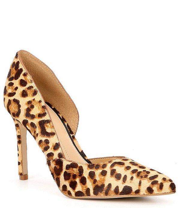 ジャンビニ レディース ヒール シューズ Venicia Leopard Print Haircalf d'Orsay Pumps Natural