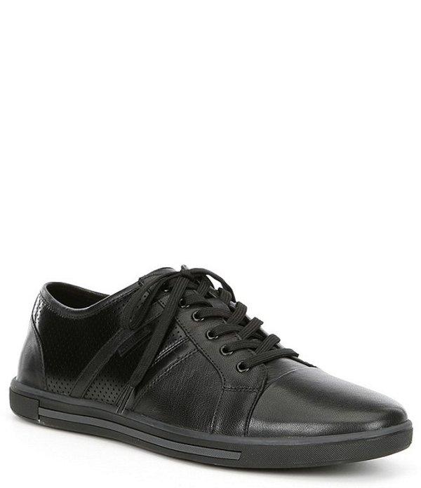 ケネスコール メンズ スニーカー シューズ Men's Initial Step Leather Sneaker Black