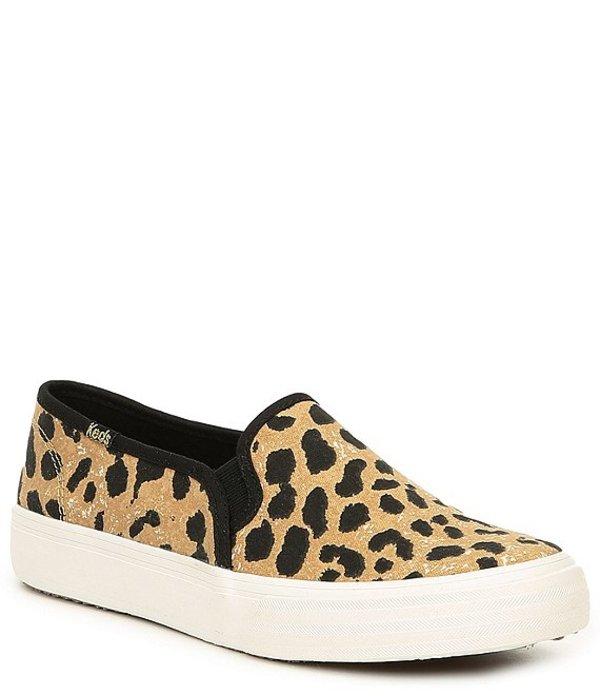 ケッズ レディース スリッポン・ローファー シューズ Double Decker Leopard Print Slip-On Sneakers Leopard