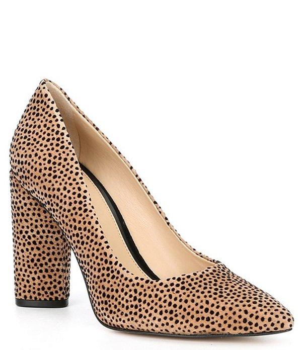 ジャンビニ レディース ヒール シューズ Kaislie Suede Cheetah Print Block Heel Pumps Cheetah