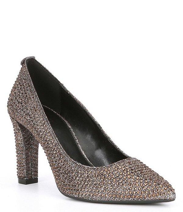 マイケルコース レディース ヒール シューズ Abbi Glitter Fabric Flex Pumps Black/Bronze/Silver