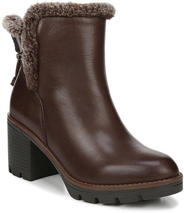 ナチュライザー レディース ブーツ・レインブーツ シューズ Valene Waterproof Leather Faux Fur Booties Chocolate WP Leather