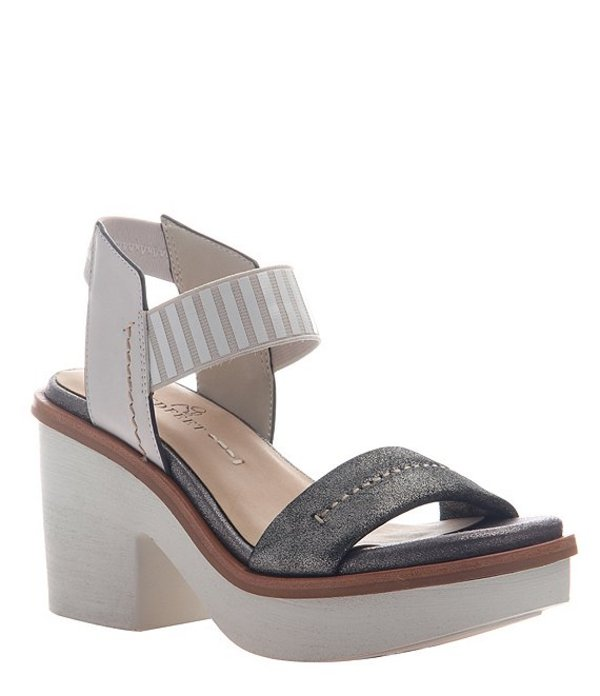 ネイキッドフィート レディース サンダル シューズ Basalt Leather Ankle Strap Platform Sandals Grey Silver