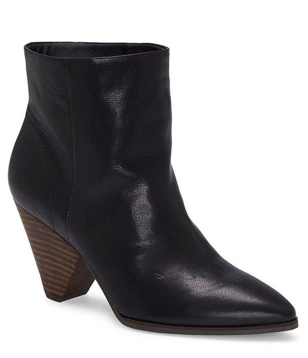 ラッキーブランド レディース ブーツ・レインブーツ シューズ Munise Leather Cone Heel Booties Black