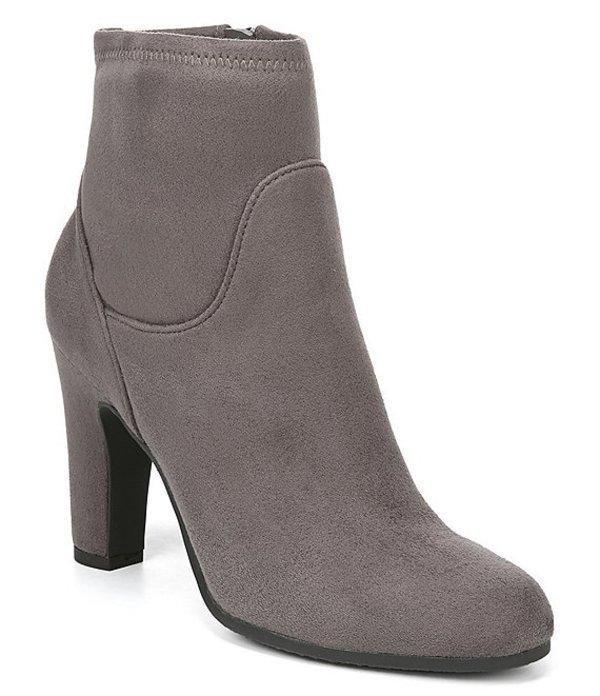 サムエデルマン レディース ブーツ・レインブーツ シューズ Sia Stretch Fabric Block Heel Booties Flint Grey