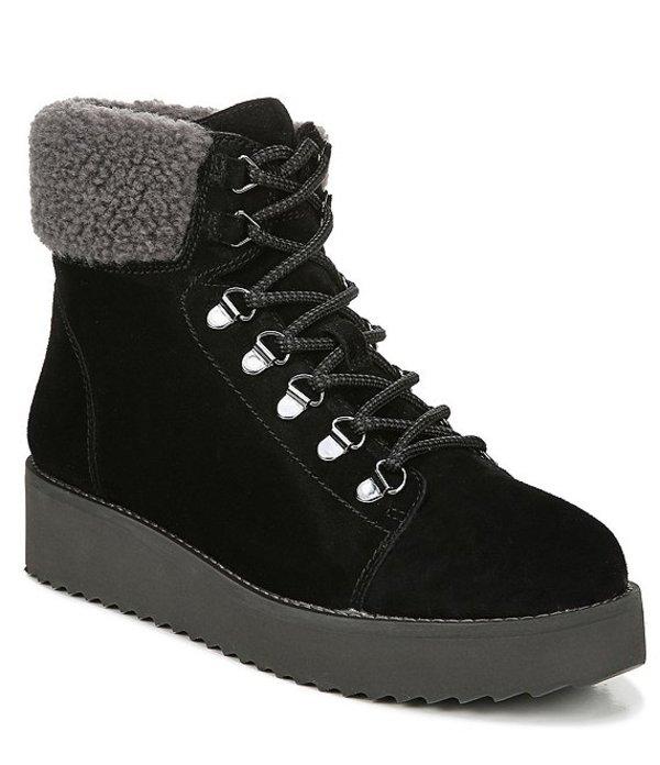 サムエデルマン レディース ブーツ・レインブーツ シューズ Franc Suede Wedge Hiker Boots Black
