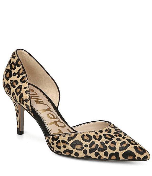 サムエデルマン レディース ヒール シューズ Jaina d'Orsay Leopard Print Calf Hair Pumps New Nude Leopard