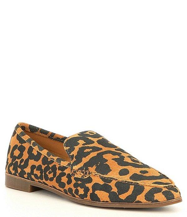 ラッキーブランド レディース スリッポン・ローファー シューズ Bejaz Leopard Print Leather Loafers Natural Leopard
