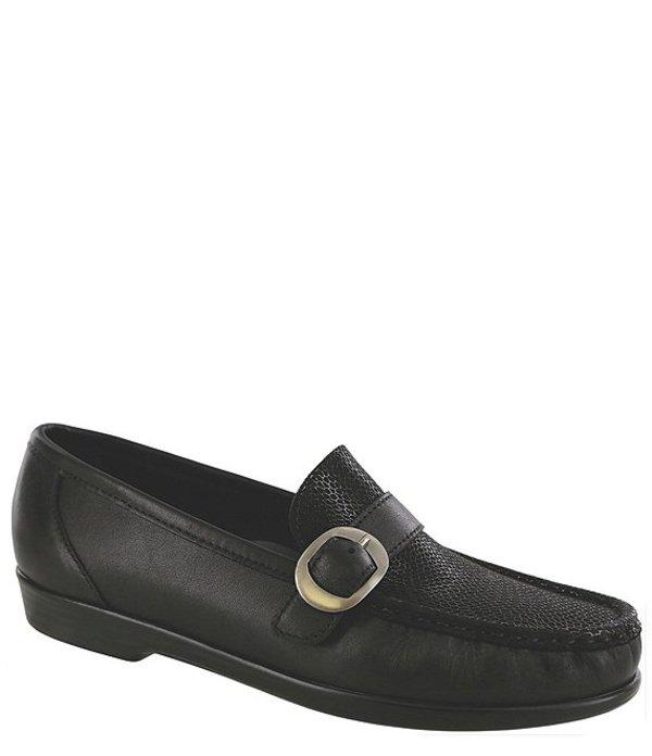サス レディース サンダル シューズ Lara Moccasin Leather Loafer Black Marsh