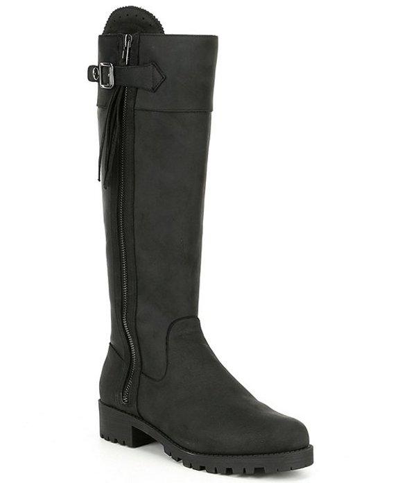 ボラティル レディース ブーツ・レインブーツ シューズ Nottingham Tall Leather Block Heel Boots Black