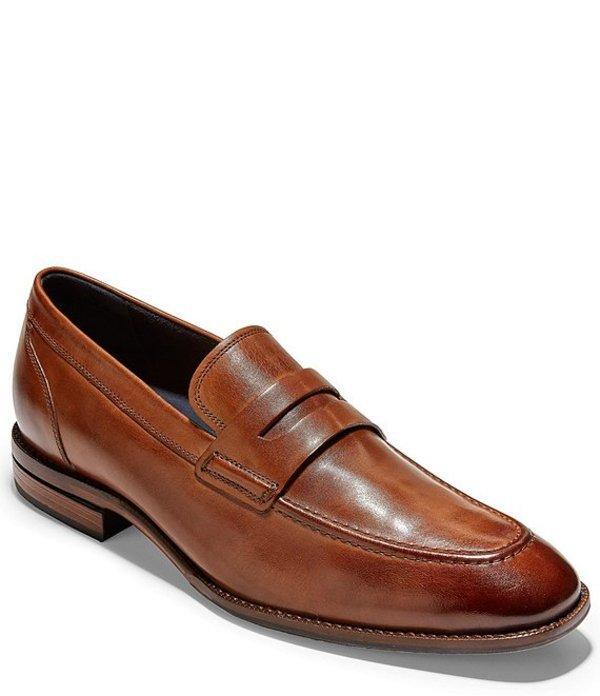 コールハーン メンズ スリッポン・ローファー シューズ Warner Grand Leather Penny Loafer British Tan