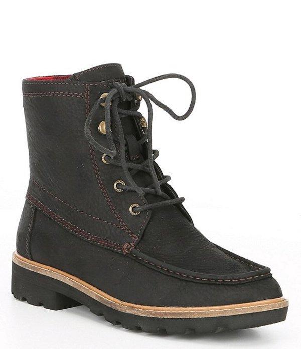 スペリー レディース ブーツ・レインブーツ シューズ Women's Authentic Original Leather Lug Boots Black