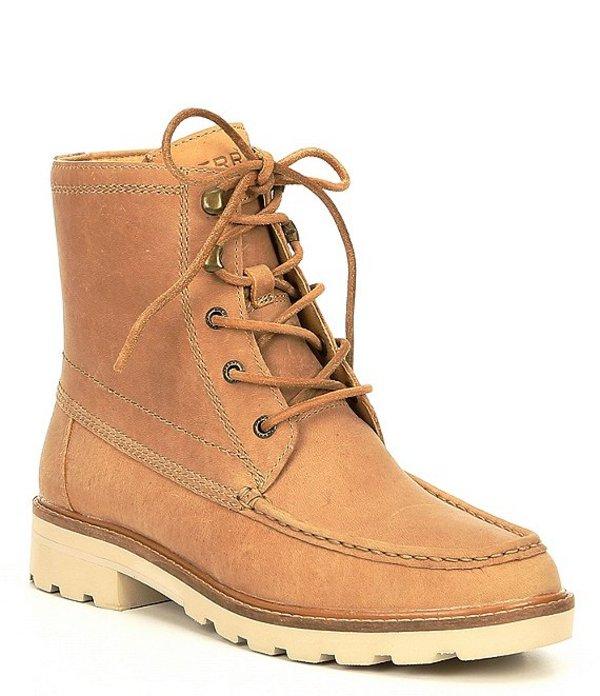 スペリー レディース ブーツ・レインブーツ シューズ Women's Authentic Original Leather Lug Boots Sand