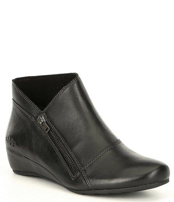 タオスフットウェア レディース ブーツ・レインブーツ シューズ Leather Hideaway Block Heel Bootie Black