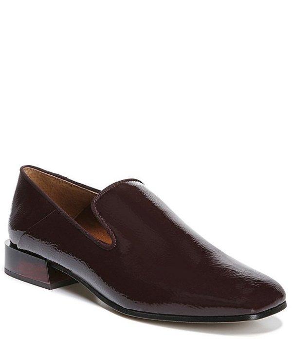 フランコサルト レディース スリッポン・ローファー シューズ Mercy Crinkle Patent Block Heel Loafers Merlot