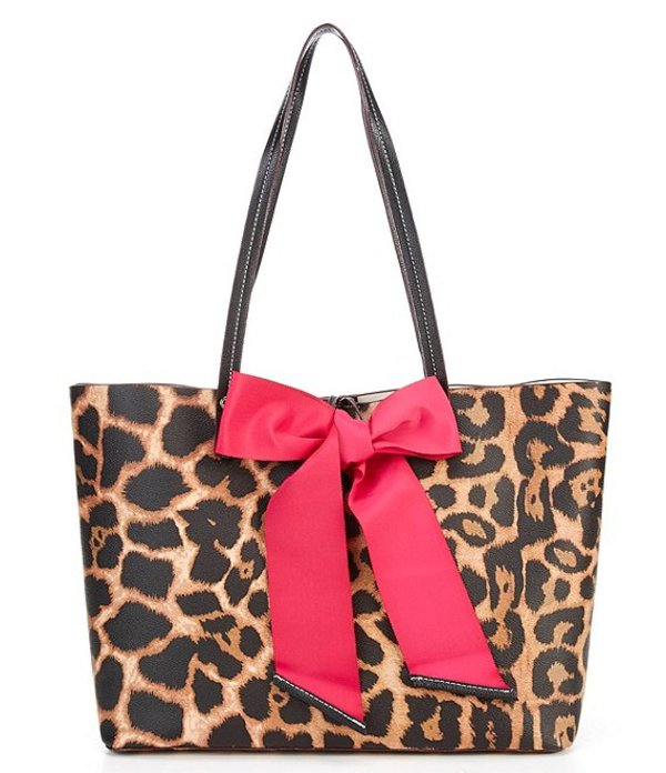 送料無料 サイズ交換無料 ベッツィジョンソン レディース バッグ トートバッグ Leopard ベッツィジョンソン レディース トートバッグ バッグ Tie The Knot Bow Leopard Tote Bag Leopard