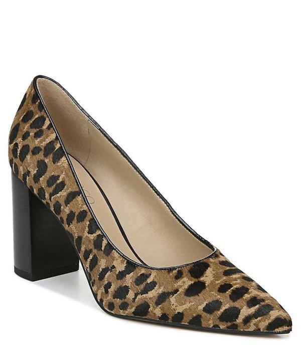 フランコサルト レディース ヒール シューズ Palma2 Leopard Print Calf Hair Block Heel Pumps Leopard