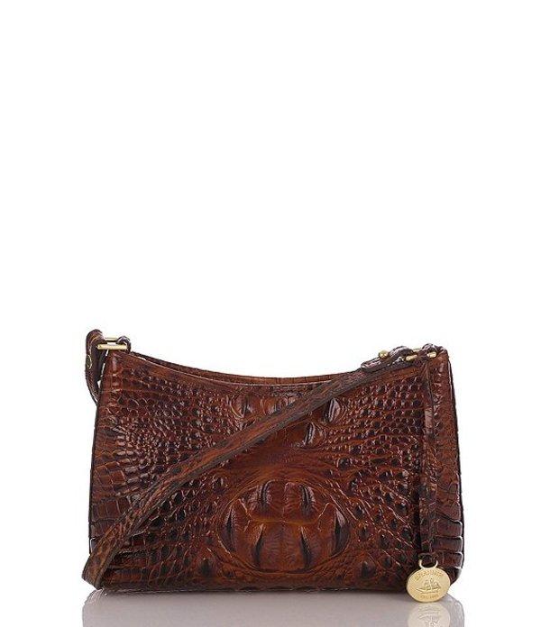 ブランミン レディース ショルダーバッグ バッグ Melbourne Collection Anytime Mini Crocodile-Embossed Shoulder Bag Pecan