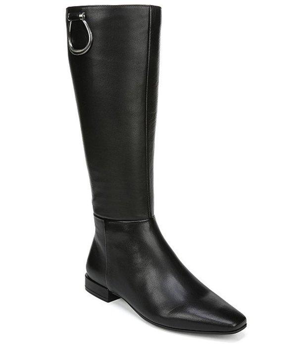 ナチュライザー レディース ブーツ・レインブーツ シューズ Carella Wide Calf Leather Riding Boots Black WC