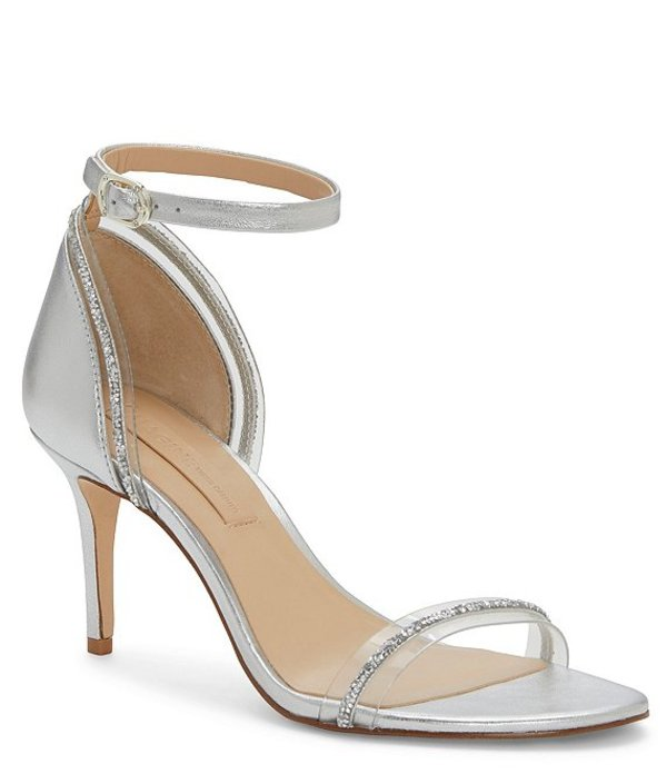 ヴィンスカムート レディース サンダル シューズ Imagine by Vince Camuto Phillipa Metallic Jewel Embellished Clear Dress Sandals Platinum/Clear
