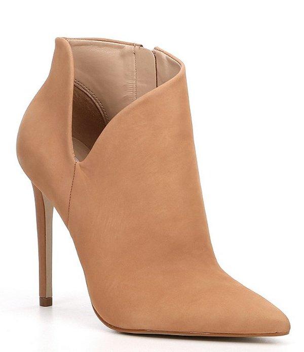 スティーブ マデン レディース ブーツ・レインブーツ シューズ Decoy Ankle V Cut Stiletto Booties Camel Nubuck