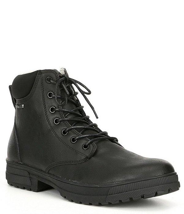 スティーブ マデン メンズ ブーツ・レインブーツ シューズ Men's Daly Water Resistant Leather Boot Black