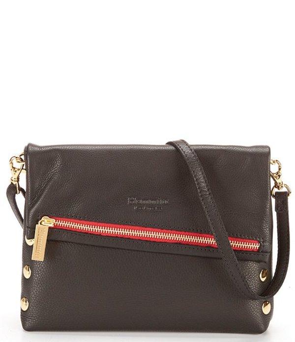 ハミット レディース ショルダーバッグ バッグ VIP Fold-Over Crossbody Bag with Contrast Zipper Black/Gold