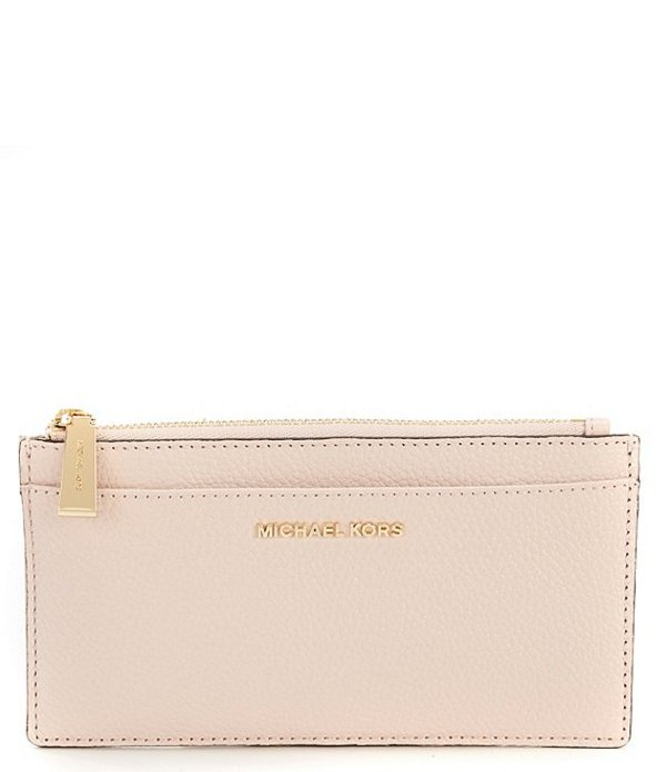 マイケルコース レディース ハンドバッグ バッグ Large Leather Slim Card Case Soft Pink