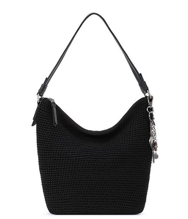 ザサック レディース ショルダーバッグ バッグ Collective Sequoia Crochet Hobo Bag Black