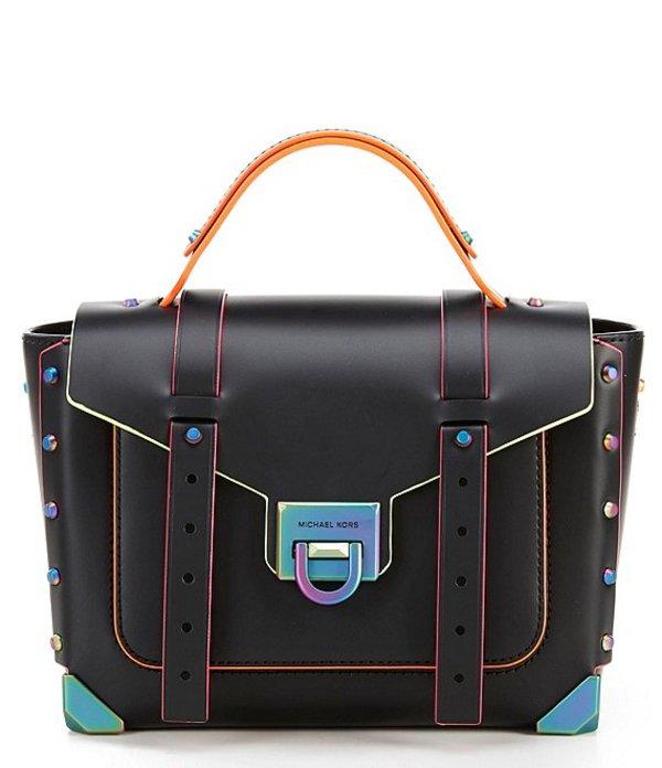 マイケルコース レディース ハンドバッグ バッグ Manhattan Medium Top Handle School Satchel Bag Black