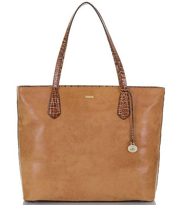 送料無料 サイズ交換無料 ブランミン レディース バッグ トートバッグ Toasted ブランミン レディース トートバッグ バッグ Rochelle Collection Misha Zip Top Leather Tote Bag Toasted