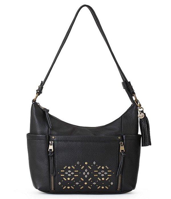 ザサック レディース ショルダーバッグ バッグ Collective Keira Studded Hobo Bag Black Stud