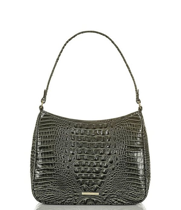 ブランミン レディース ショルダーバッグ バッグ Melbourne Collection Crocodile-Embossed Meg Shoulder Bag Serpentine