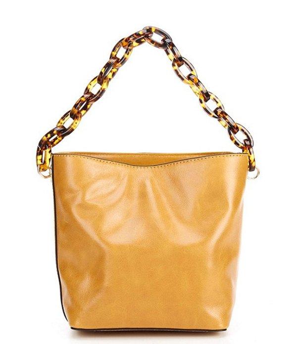 ヴィンスカムート レディース ショルダーバッグ バッグ Ivy Chain Leather Bucket Crossbody Bag Creamy Caramel