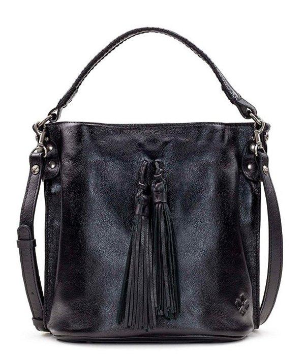 パトリシアナシュ レディース ショルダーバッグ バッグ Heritage Collection Otavia Fringe Leather Bucket Bag Black